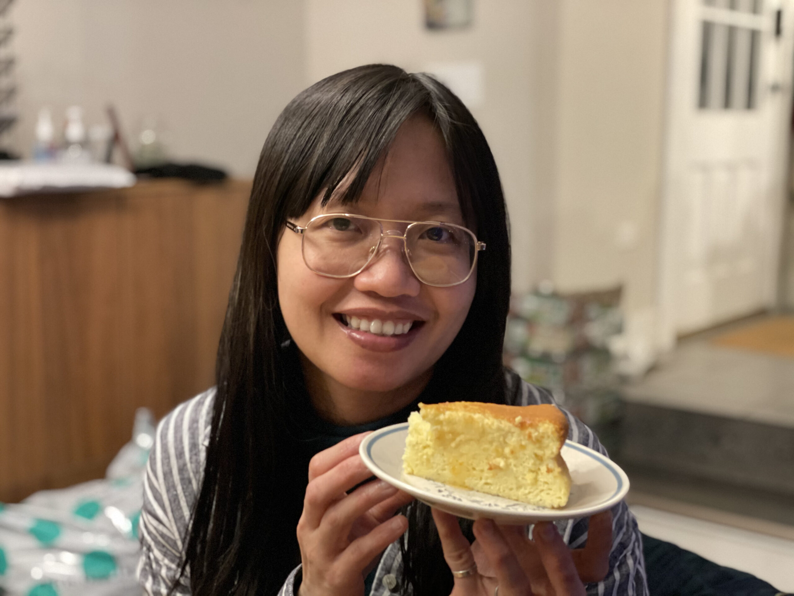 Anh with cake